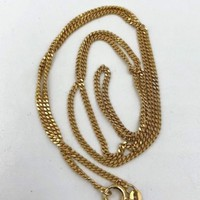 "Balestra 14k Yellow Gold Curb Chain Necklace 24"" 9.3 grams"