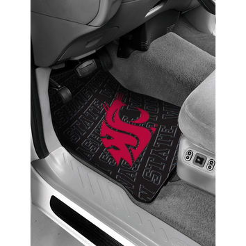 Washington State Cougars NCAA Car Front Floor Mats (2 Front) (17x25)