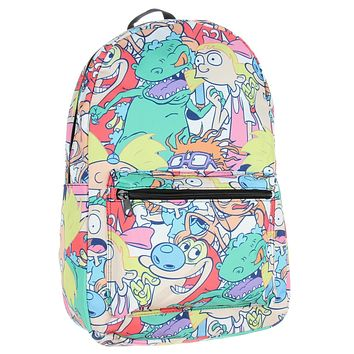Nickelodeon 90s Shows Cartoon Backpack Rugrats Hey Arnold Reptar