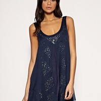 ASOS | ASOS Chiffon Overlay Embellished Shift Dress at ASOS