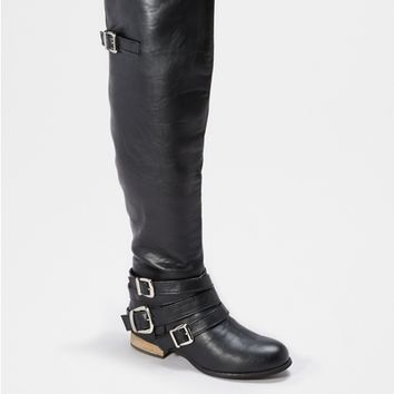Strapped Up Over-The-Knee Boot By Wild Diva®
