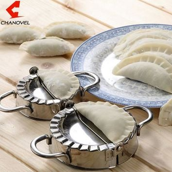 New Pastry Tools Stainless Steel Dumpling Maker Wraper Dough Cutter Pie Ravioli Dumpling