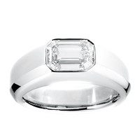 RenéSim Emerald Cut Diamond Ring