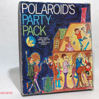 Polaroid Camera Party Pack Party Ideas and Games 1969 VINTAGE
