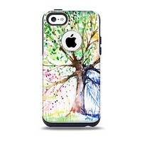 The WaterColor Vivid Tree Skin for the iPhone 5c OtterBox Commuter Case