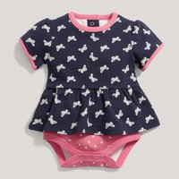 Baby Girl Mix And Match Butterfly Peplum Bodysuit