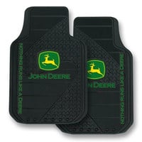 John Deere Factory Style Logo Trim-To-Fit Molded Passenger/Driver Front Floor Mats - Set of 2