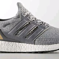 NEW Adidas Ultra Boost 3.0 SIZE 9.5 LTD Leather grey nmd r1 xr1 r2 FREE SHIPPING