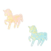 Best Friends Confetti Star Pastel Unicorns Pins