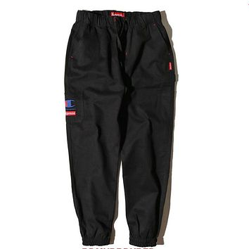 Trendsetter Champion X Supreme Women Men Fashion Casual Pants Trousers