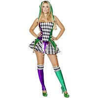 Court Jester Girl Halloween Costume
