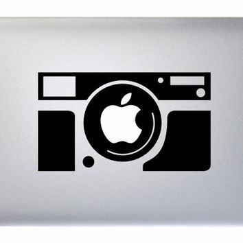 "Camera - Apple Macbook Laptop Decal Sticker Vinyl Mac Pro Air Retina 11"" 13"" 15"" 17"" Inch Skin Cover Canon Nikon Photography"
