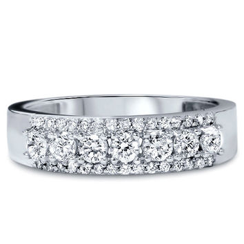 3/4CT Diamond Ring 14K White Gold Size 4-9