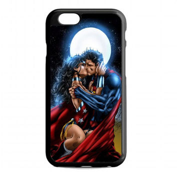superman kissing wonder woman For iphone 6s case