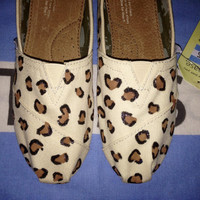 Cheetah Animal Print Custom TOMS