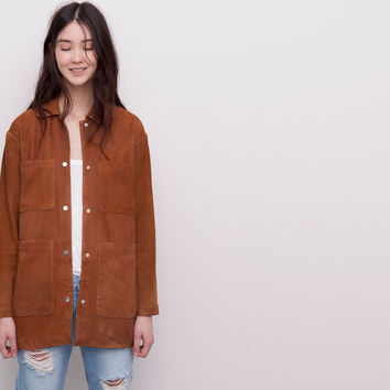 LEATHER SAFARI JACKET - NEW PRODUCTS - NEW PRODUCTS - WOMAN - PULL&BEAR United Kingdom