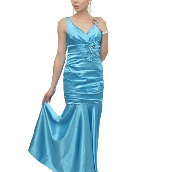 Prom Long Dress Formal Sale Satin 2018