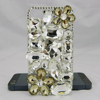 Flowers Gem Pearl  iPhone case,bling iphone 6 case,Crystal iphone 6 Plus,Rhinestone iphone 5/5S/5c,iphone 4 case samsung galaxy S3/S4/S5
