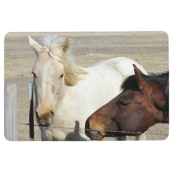 Two Horses Floor Mat