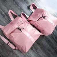 Calvin Klein New fashion letter print couple travel high capacity backpack bag Pink