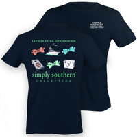 Simply Southern 'Life is Full of Choices' Bows Shirt - Navy