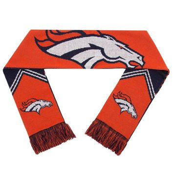 Denver Broncos Scarf - Reversible Stripe