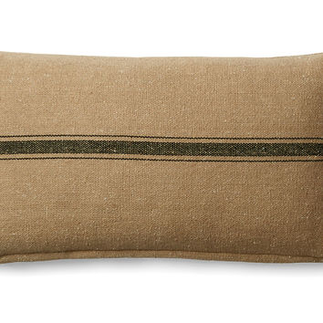 French Laundry Home, Stripe 10x20 Cotton Pillow, Natural, Decorative Pillows