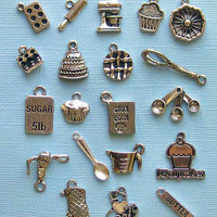 Deluxe Baking Charm Collection Antique Tibetan Silver 20 Different Charms - COL075