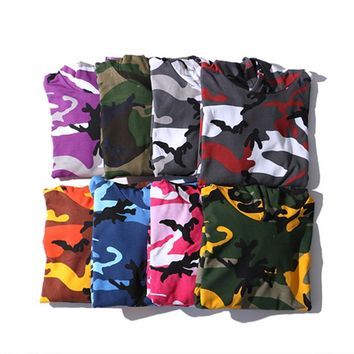 YouthCodes Camouflage Military Hoodie Kanye West Season5 USA Army Camo Oversize Loose Style Swaeatshirts Men Navy Air Force 2018
