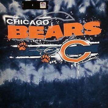 CHICAGO BEARS  'HORIZONTAL STENCIL'  Tie Dye  T-Shirt NEW NFL