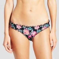 Women's Wave Ruffle Cheeky Bikini Bottom - Shade & Shore