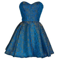Style Icon's Closet 50s style Vintage Inspired Pin-Up African Print Retro Rockabilly Clothing — Turquoise Midas Party Dress