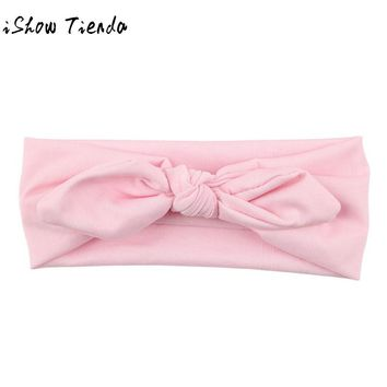 ISHOWTIENDA 2017 new fashion Baby hairband Kids Girls Rabbit Bow Ear Hairband Headband Turban Knot Head Wraps