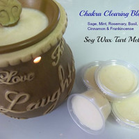 Chakra Clearing Tart Wax Melt Reiki Intention Candle Tarts Yoga Melts and Metaphysical Techniques
