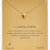 Dogeared 'Carpe Diem' Boxed Pyramid Pendant Necklace