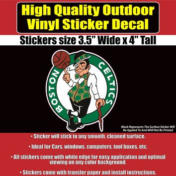 Boston Celtics NBA, Celtic, Celtic's Vinyl Car Window Laptop Bumper Sticker Decal