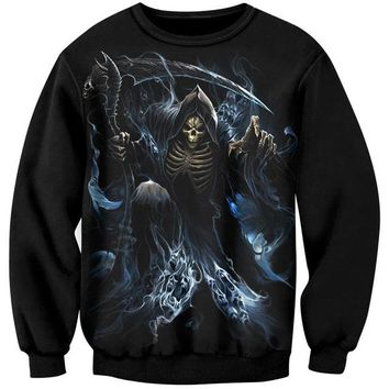 Skull Sweatshirt 3D Pullover Fashion Casual