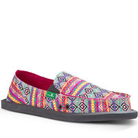 Sanuk Donna Magenta Multi Tribal Stripe Sidewalk Surfers