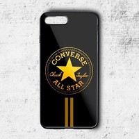 Converse All Star Gold Stripe Fit Hard Case For iPhone 6 6s 7 8 Plus X Cover +