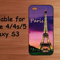 iPhone Case, Samsung Galaxy S3 Case, iPhone 4 Case, iPhone 5 Case, Love Paris Eiffel Tower iPhone Case