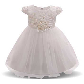 Newborn Dress For Girl New Brand Toddler Girls Clothes Flower Baby Wedding Gown Princess Infant Costume 3 6 9 12 18 24 Months