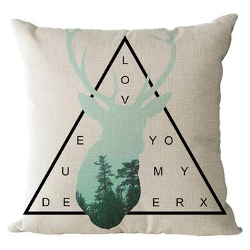 Deer | Nordic Nature Style Cushion Cover - 45cm