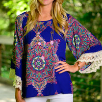 Feel Good Blouse, Royal Blue