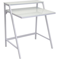2-Tier Desk, White