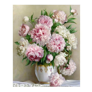 5d diamond painting Cross Stitch Flowers Diamond Mosaic Pictures Living Room Diamond Embroidery Hand Made Diamond Paintings