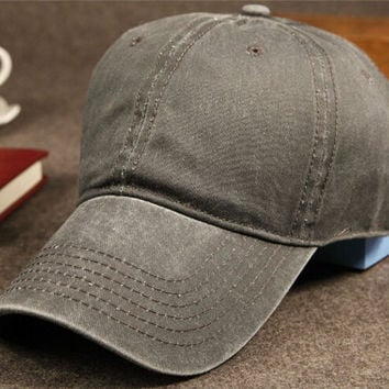 Vintage Unisex Washed Cotton Baseball Cap