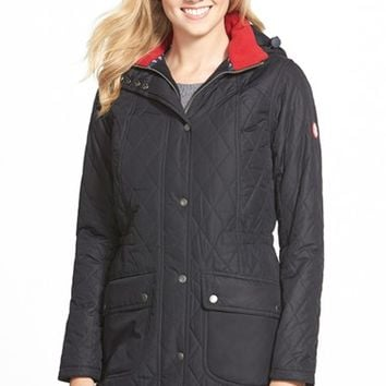Women's Barbour 'Kirby' Hooded Quilted Coat,