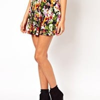 Skater Skirt in Pansy Print