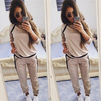 Women Fashion Girls Spring/Autumn Hoodies Sweaters Pencil Pants 2Pcs Slim Fit Casual Sweat Suit Track Suit