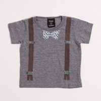 Suspenders and Bow Tie Tee by Grass & Clovers - ShopKitson.com